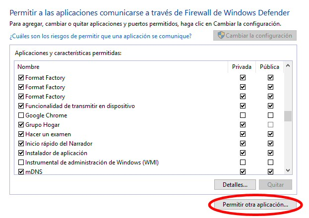 chrome firewall windows defender