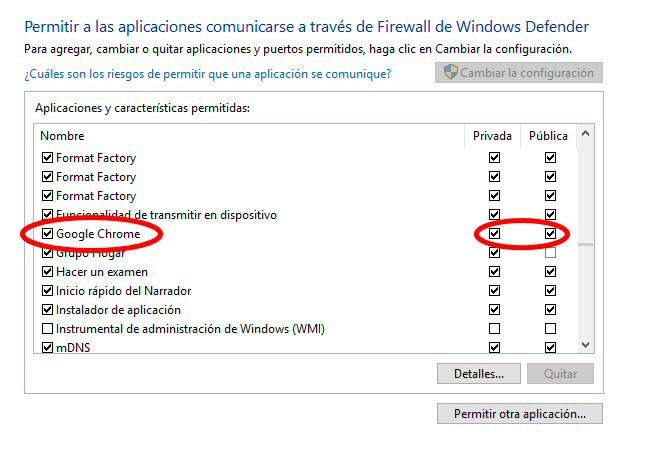 chrome firewall