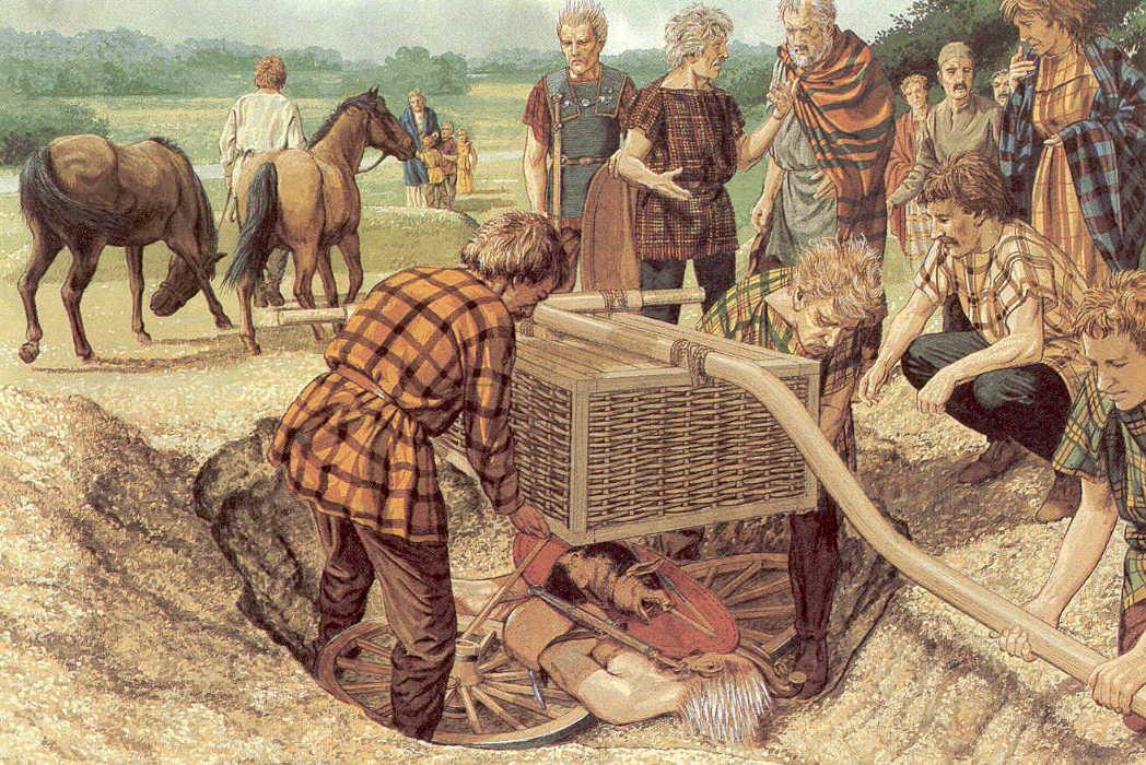 celtas tumba muertos