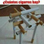 ¿Cuántos cigarros hay?