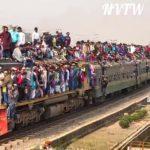 Superpoblación en la India, así van los trenes