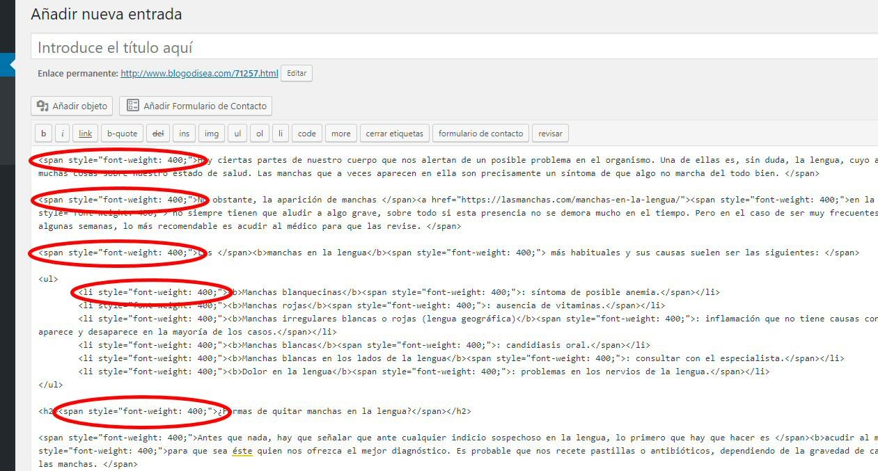 pegar word doc codigo html