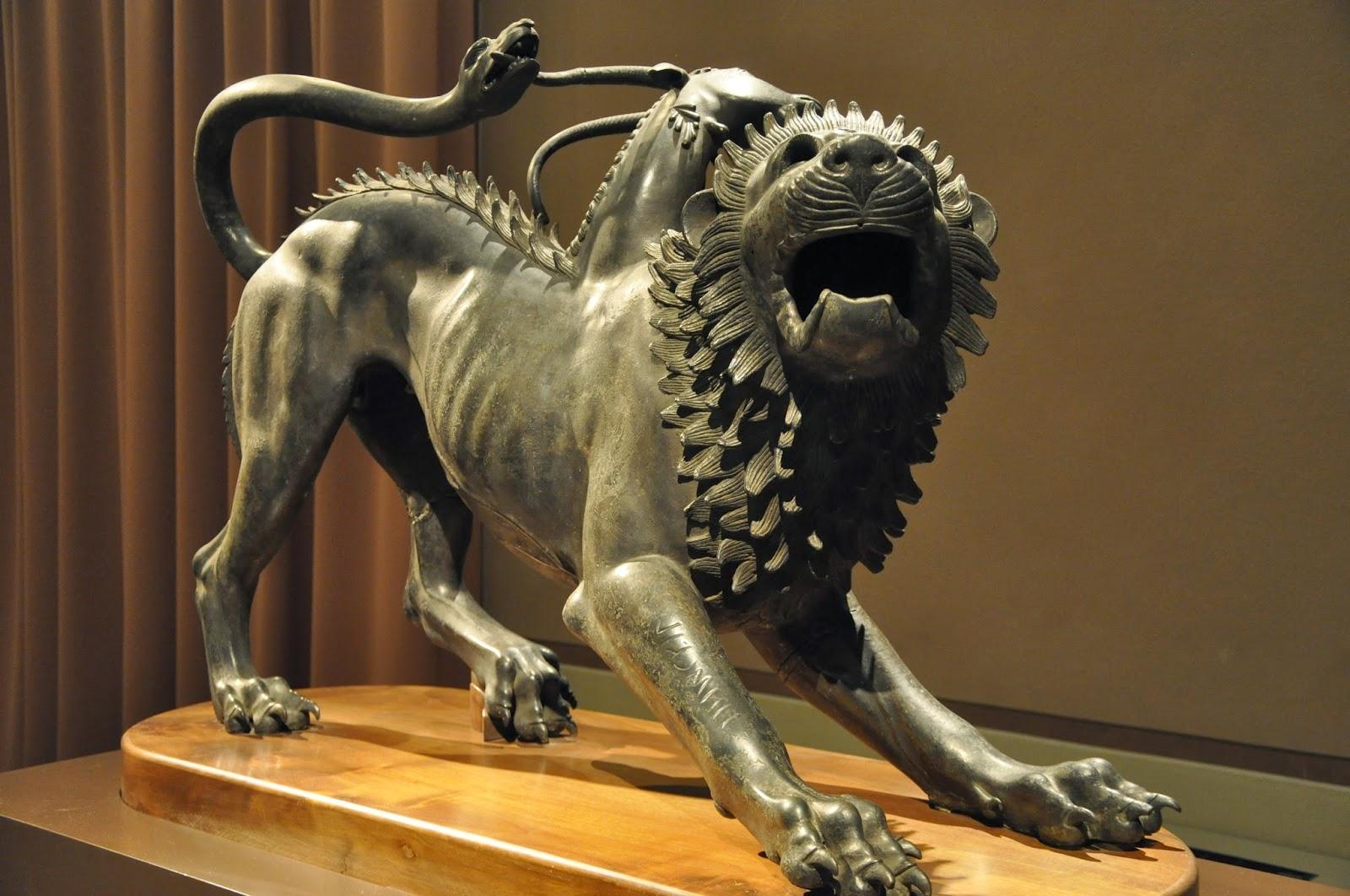 arte etrusco quimera arezzo