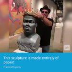 Escultura confeccionada en papel