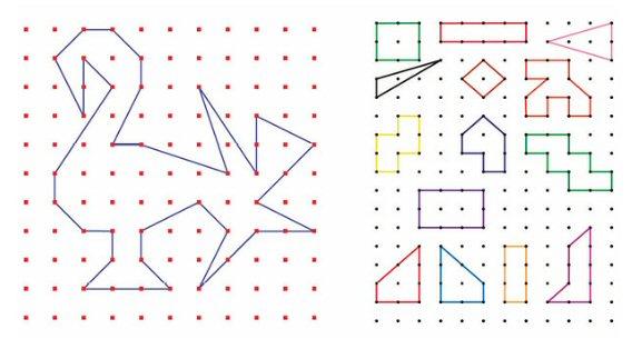 geometria figura lineas poligonos