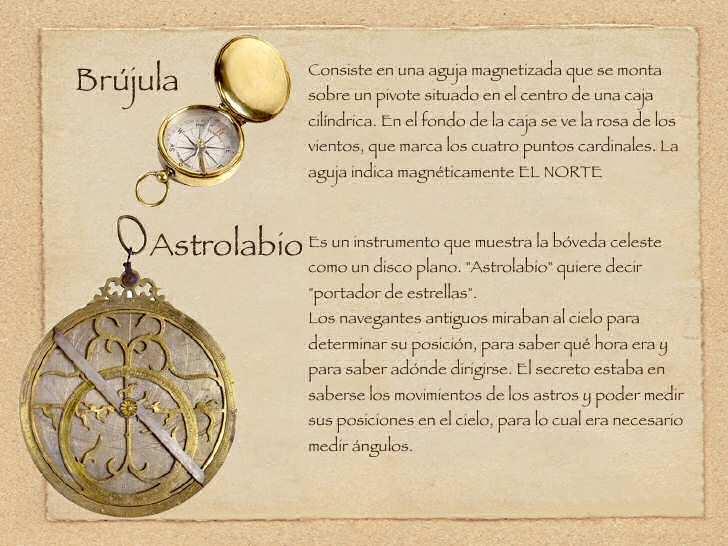 navegacion brujula astrolabio