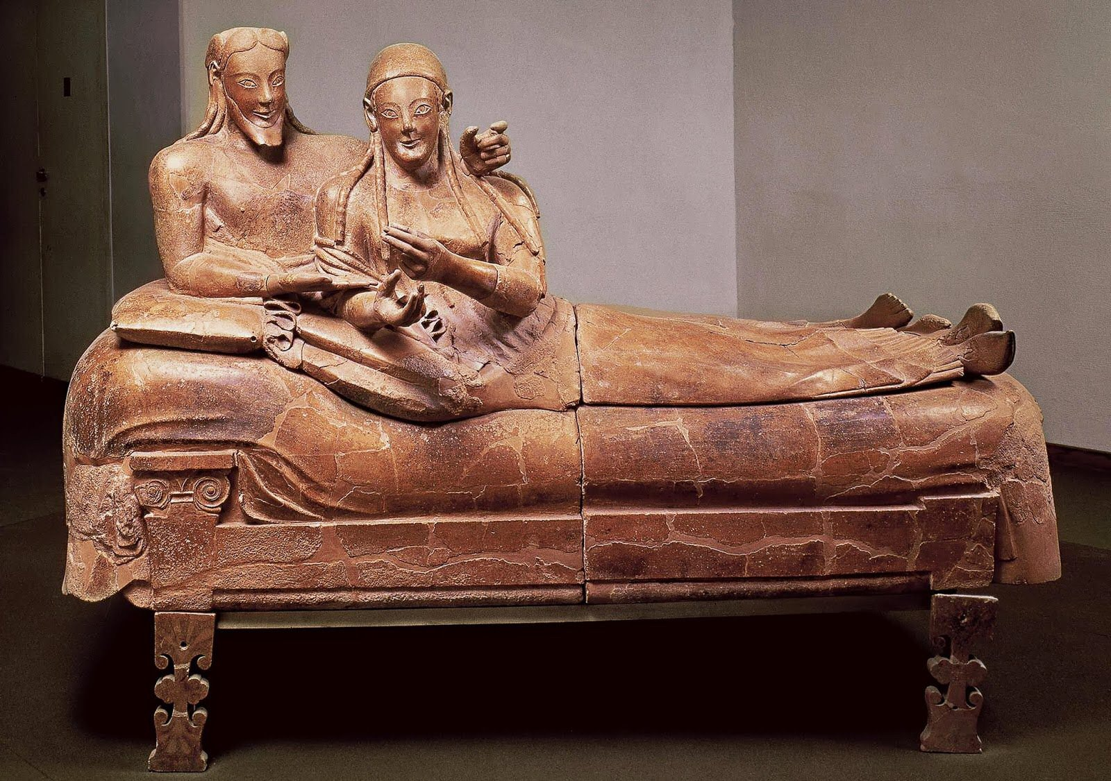 sarcofago esposos etrusco