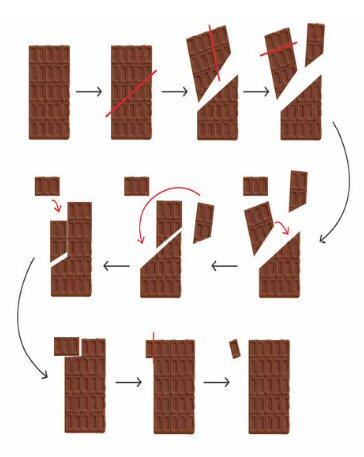 tableta chocolate onza geometria