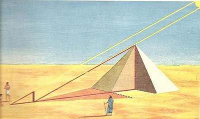 tales mileto medir piramide