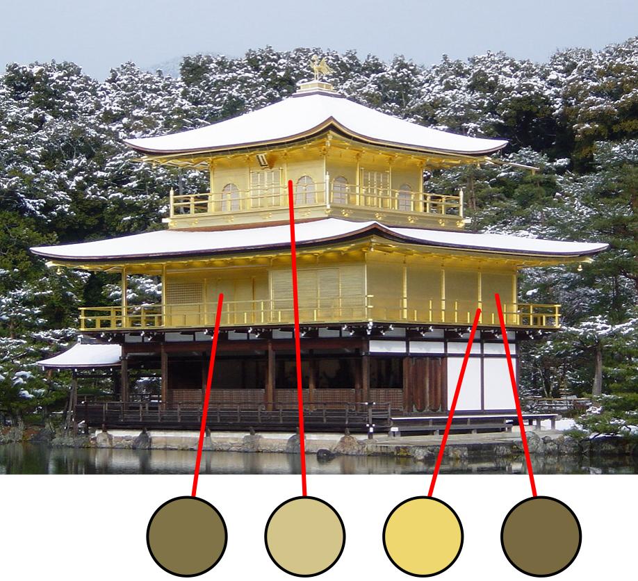 templo consistencia color dorado