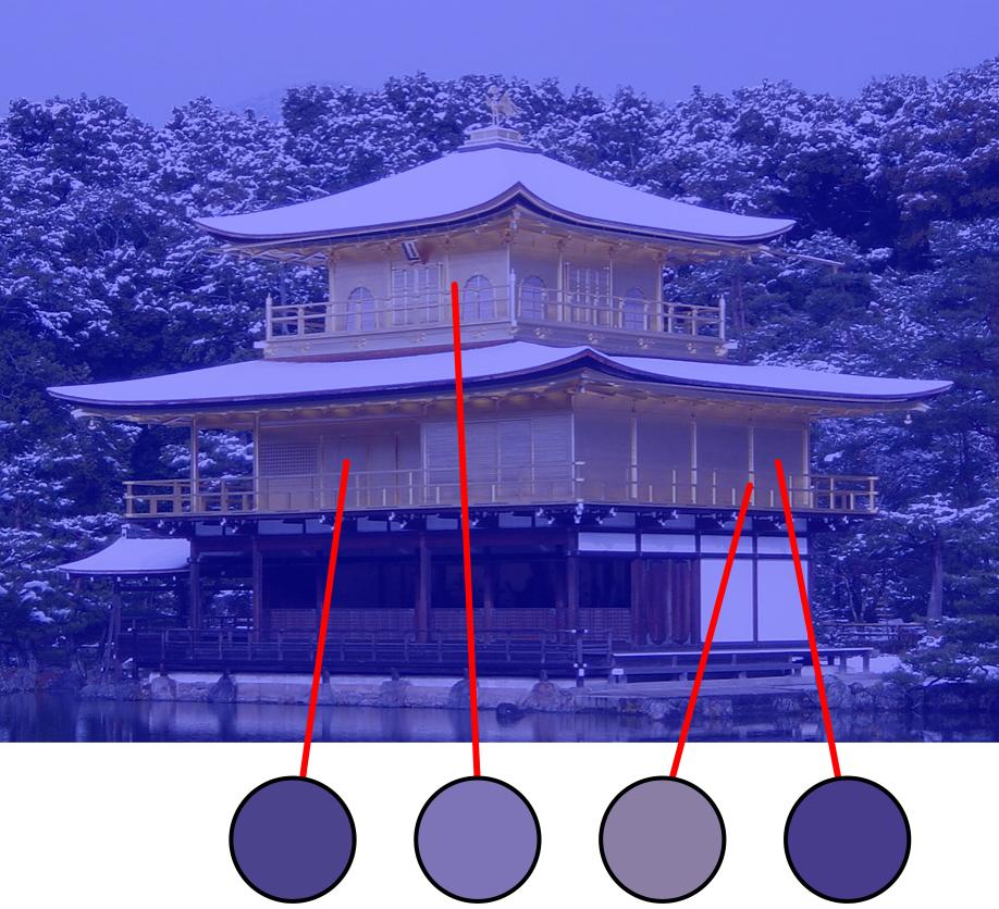 templo consistencia color lila