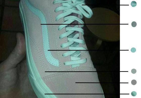 zapatilla rosa ilusion optica