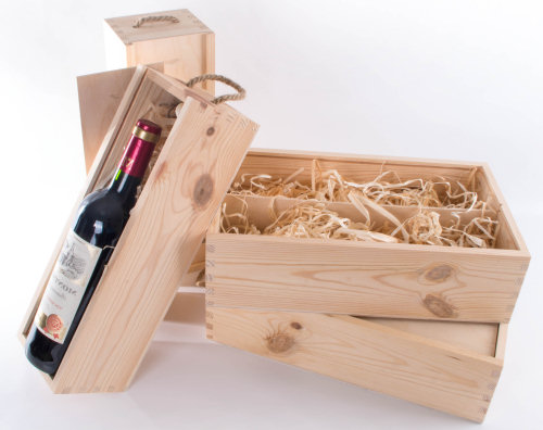 caja madera vino