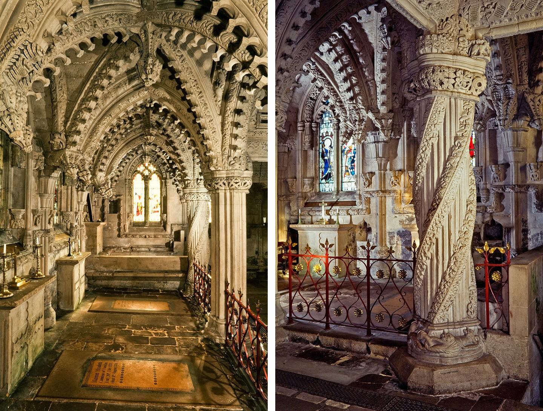 rosslyn capilla interior