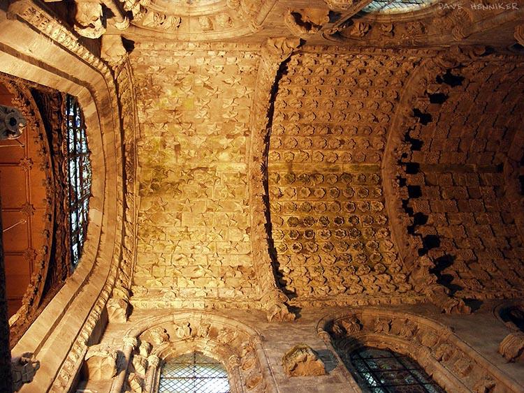 rosslyn capilla techo estrellas