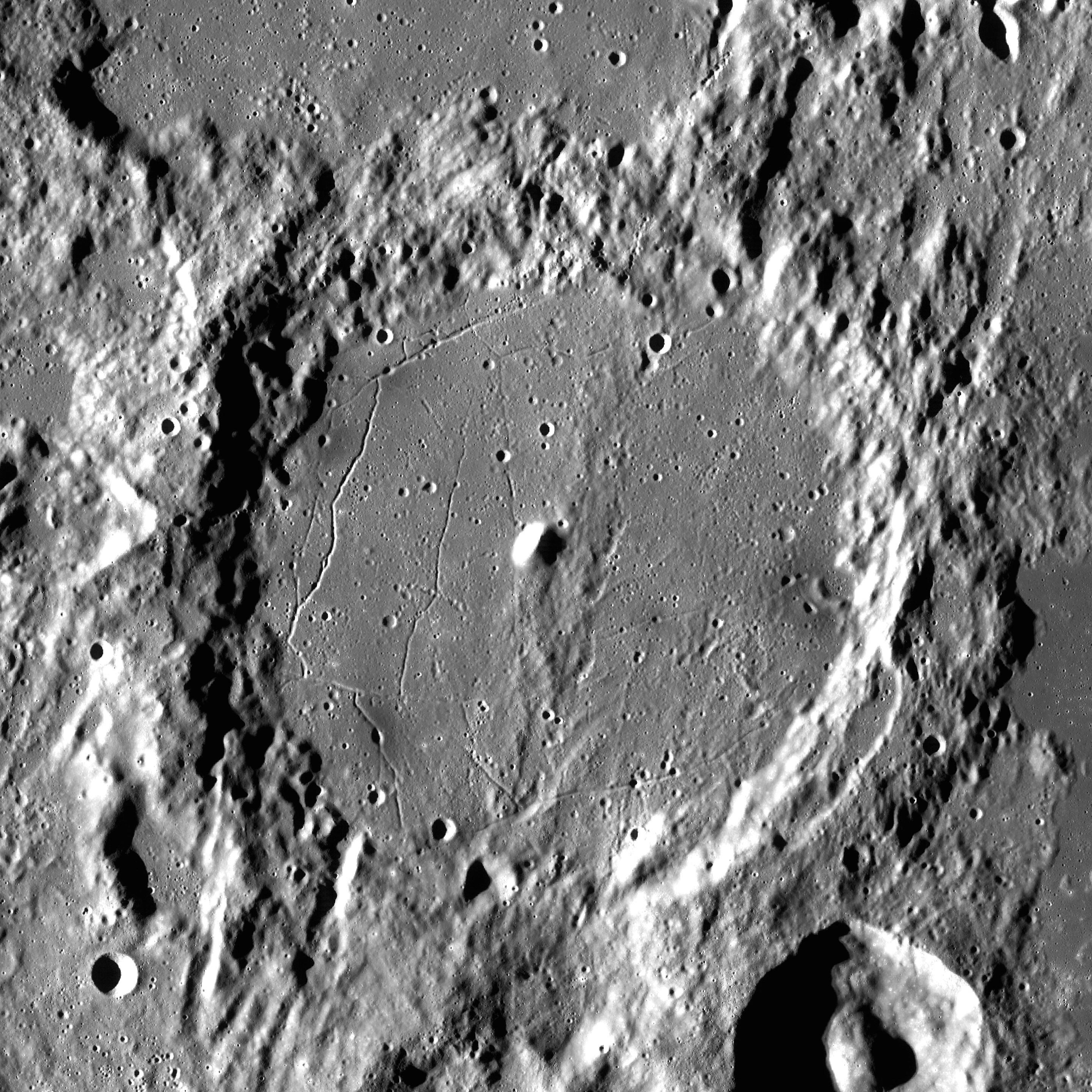 crater alfonso alphonsus luna moon