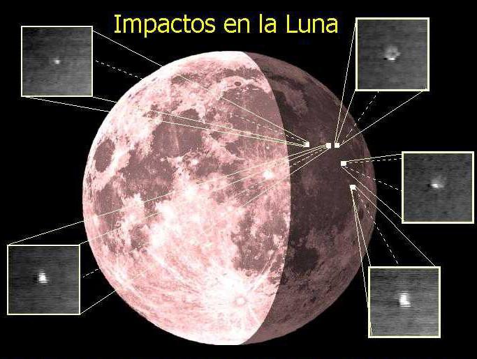 impactos luna
