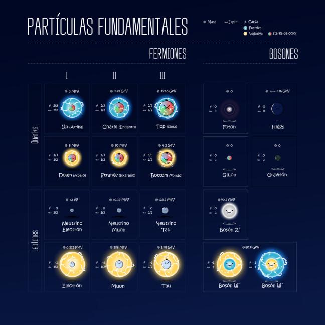 particulas fundamentales fermiones bosones