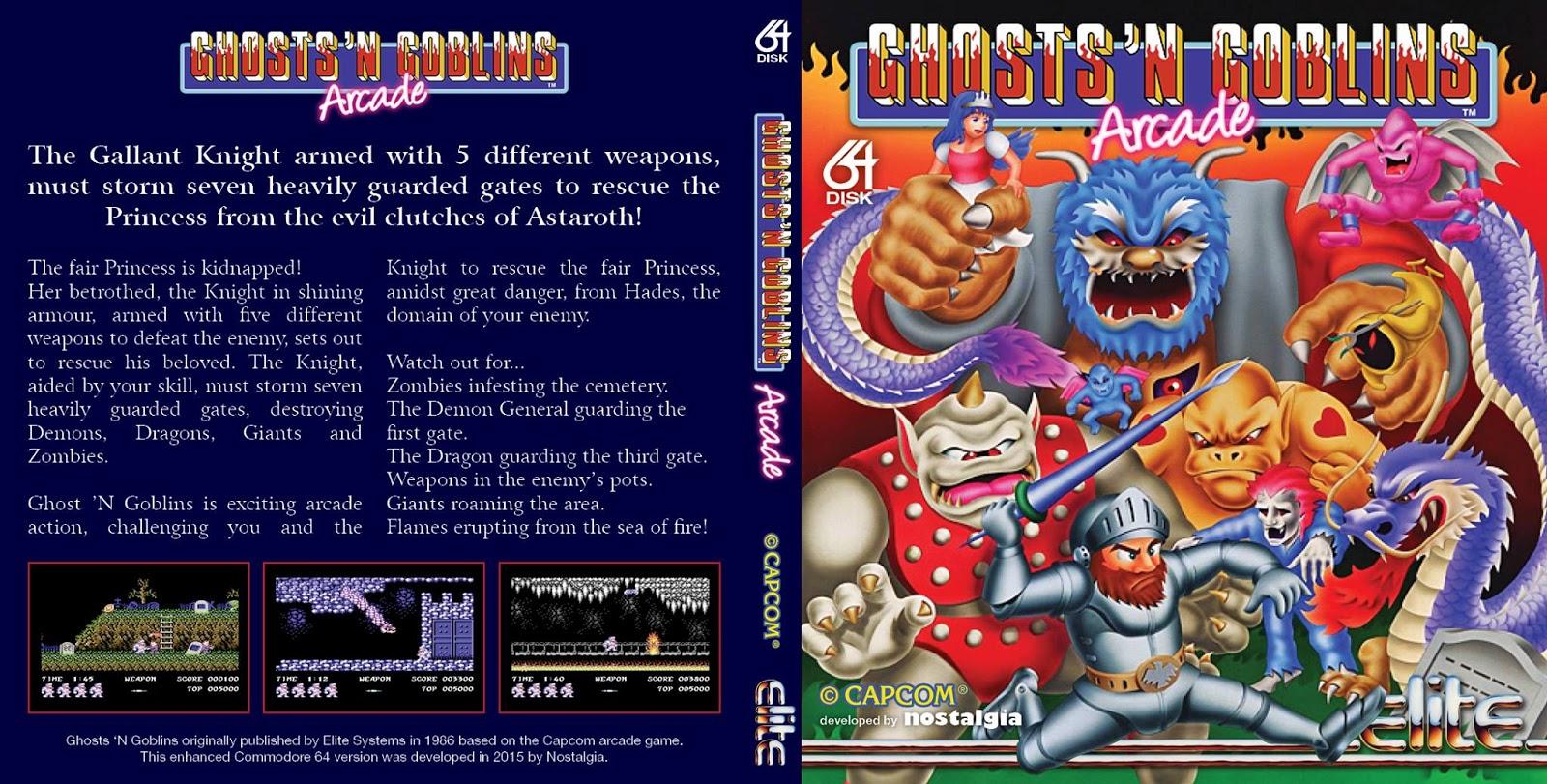 ghosts n goblins arcade 1985