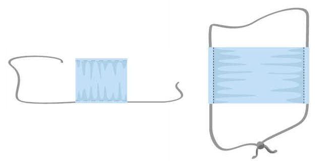 como hacer tapabocas tela