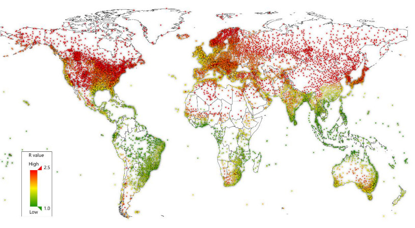coronavirus covid paises