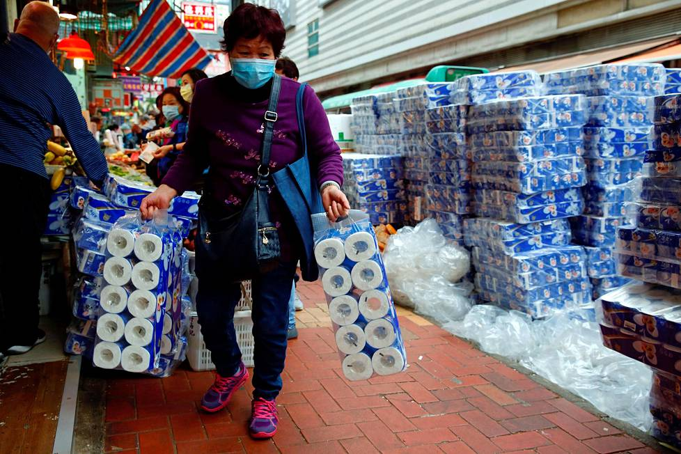 hong kong mercado papel higienico coronavirus