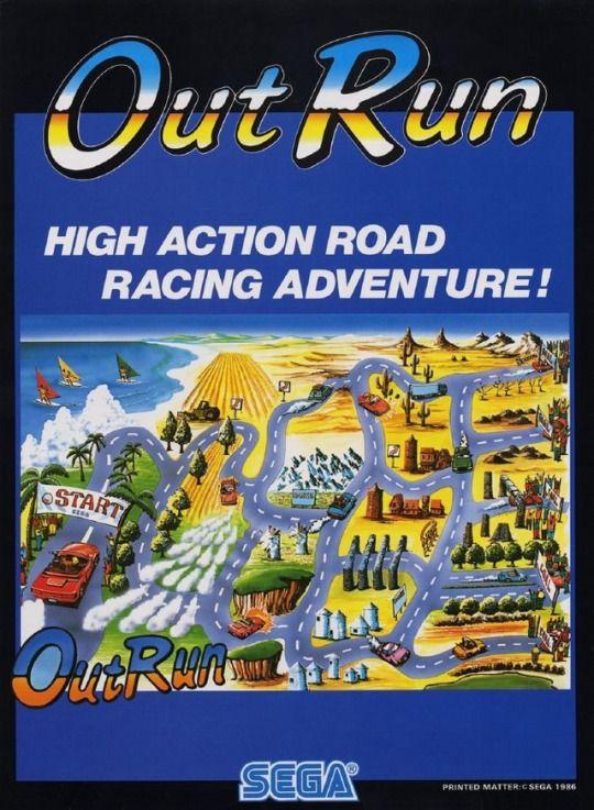 outrun arcade juego carreras