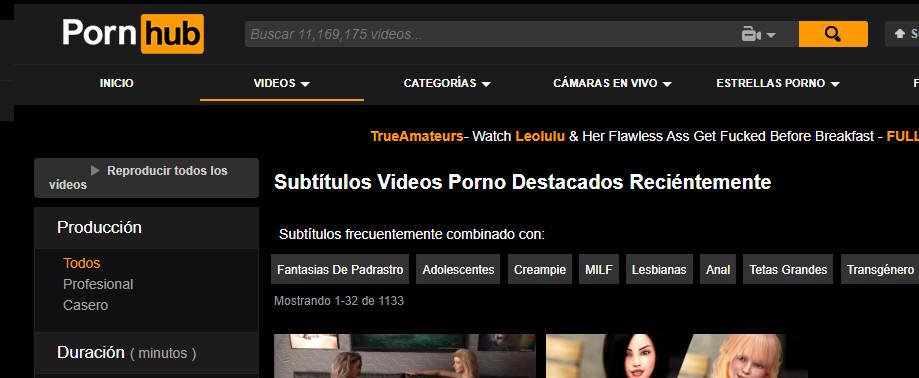 subtitulado video