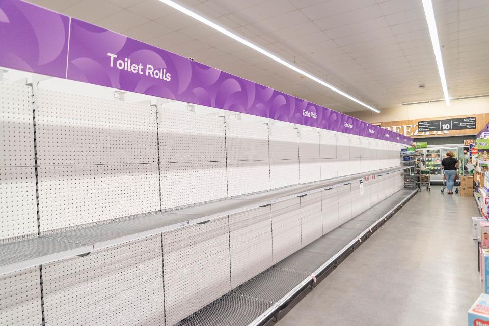 supermercados coronavirus estantes