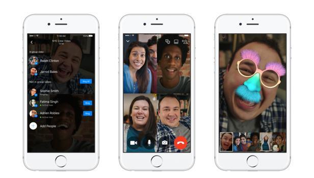 videollamadas grupo grupales facebook messenger