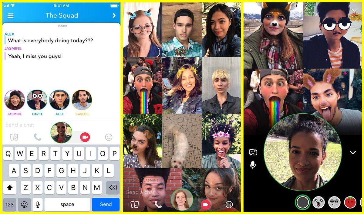 videollamadas grupo grupales snapchat