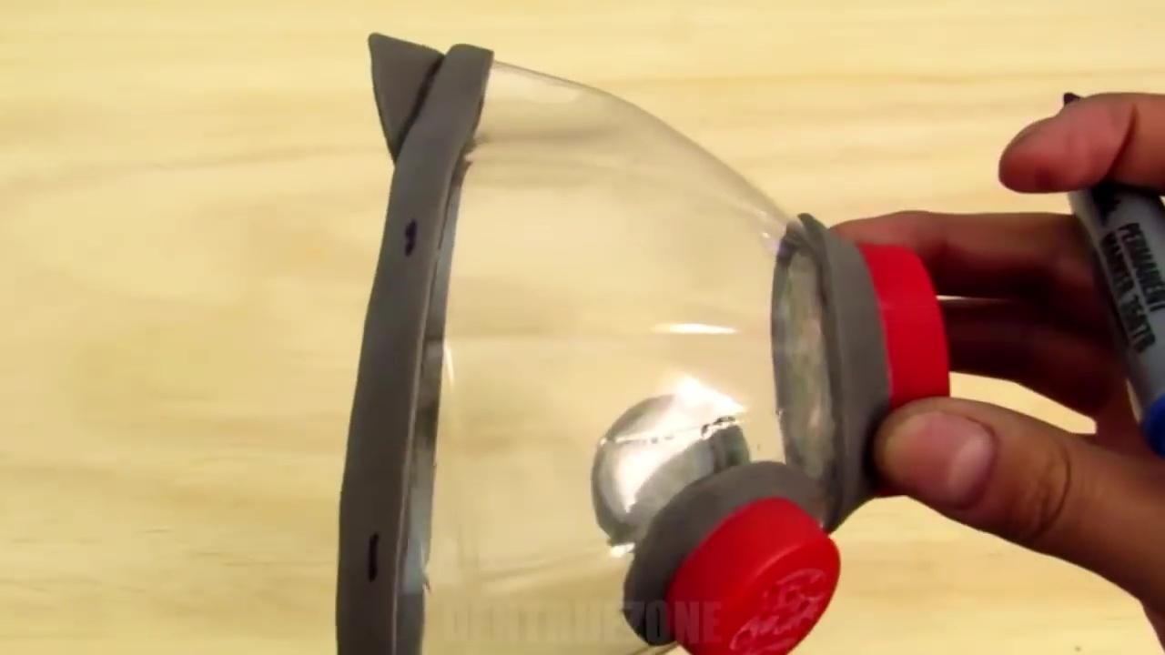 como hacer mascara plastico covid 53