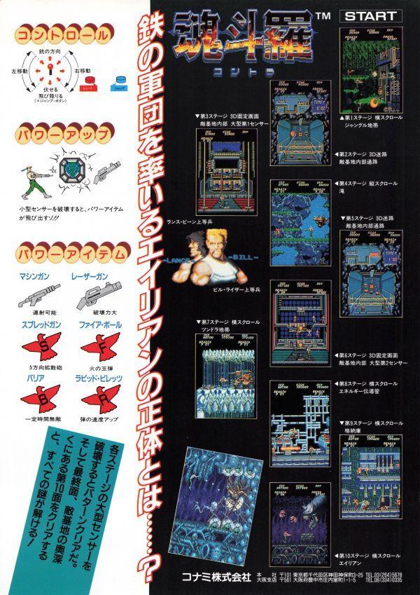contra arcade poster 1987