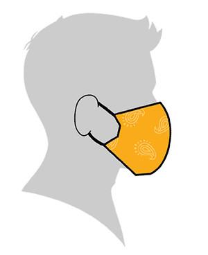 mascara tela coronavirus sin coser