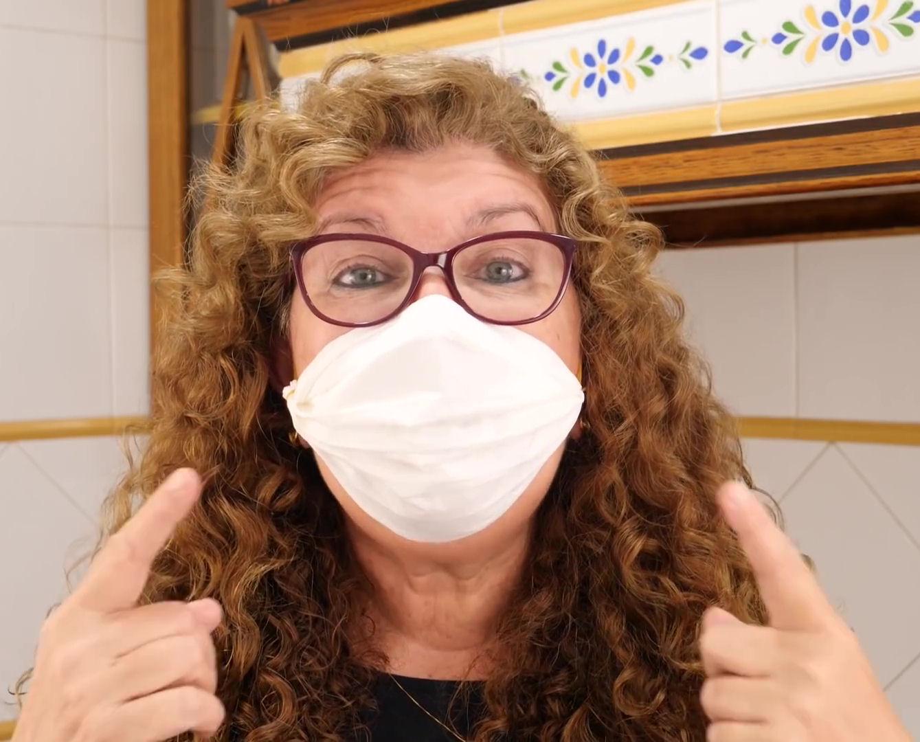 mascarilla coronavirus papel cocina