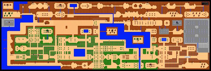 zelda nes nintendo mapa 1986