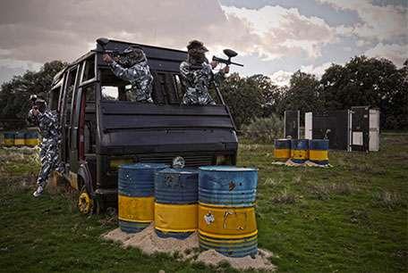 action live paintball madrid juego