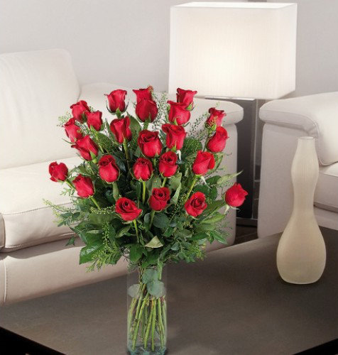 decoracion rosas rojas