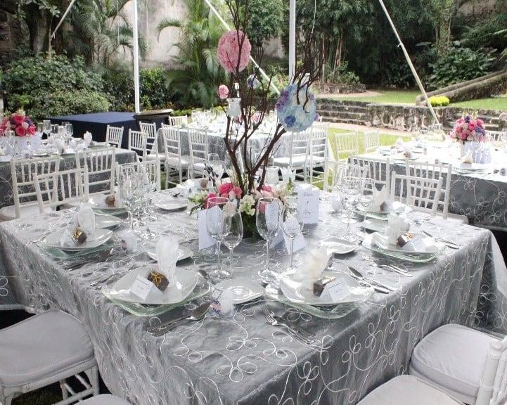 banquete boda mesas cuadradas