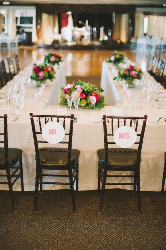 banquete boda mesas herradura