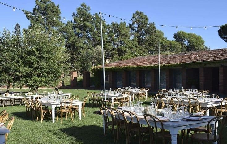 banquete boda mesas rectangulares