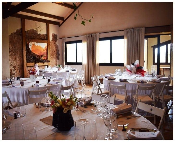 banquete boda mesas redondas