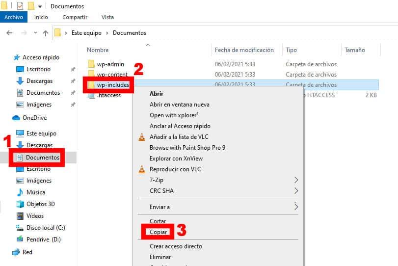 copiar archivos windows